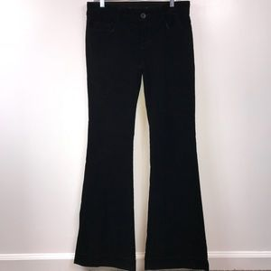 J Brand Black Corduroy Wide Leg Pants Size 30